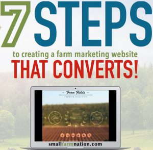 farm marketing website