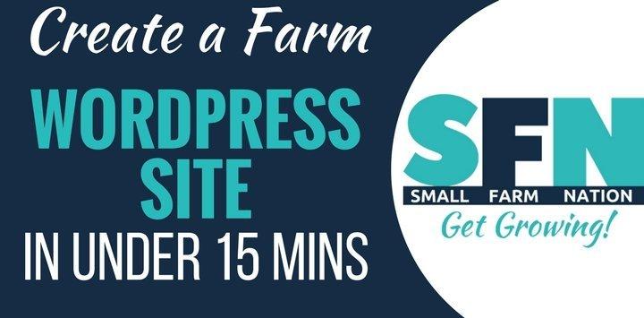 Create a Farm WordPress Site in Under 15 Minutes