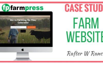 Farm Website Case Study – Rafter W. Ranch