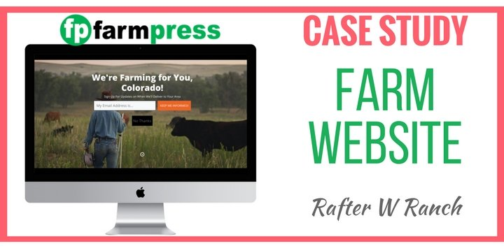 Farm Website Case Study – Rafter W. Ranch