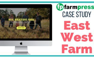 Farm WordPress Site Case Study – East West Farm