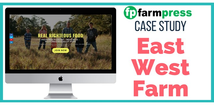 Farm WordPress Site Case Study – East West Farm