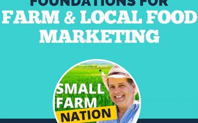 Foundations for Farm & Local Food Marketing