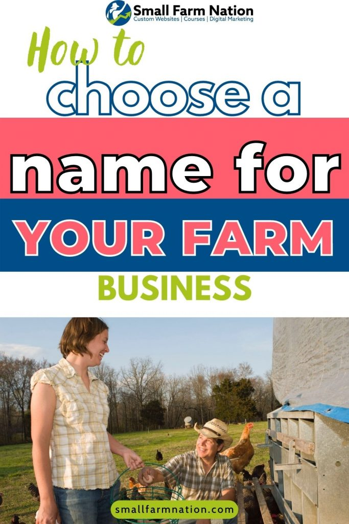 How To Choose A Name For Your Farm Farm Websites Marketing Support For Farm Craft Food Businesses