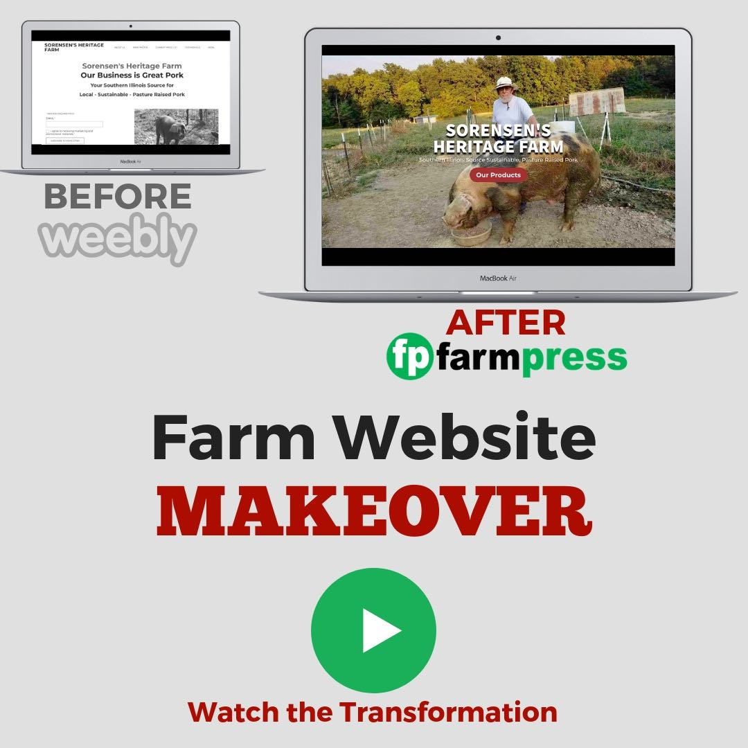 Farm Website Before and After – Sorensen