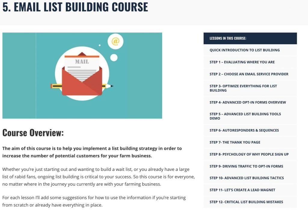 online email course