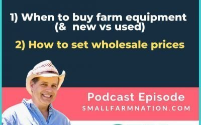 How to Set Wholesale Prices & When to Buy Farm Equipment