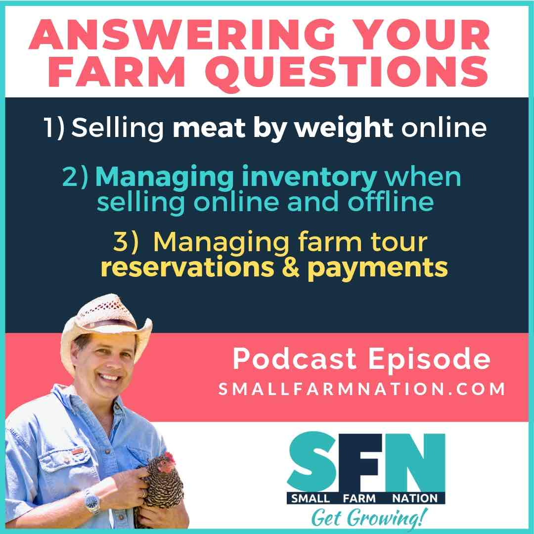 Selling meat by weight online & taking payments for farm tours