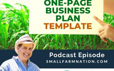 THE FARM ONE-PAGE BUSINESS  PLAN TEMPLATE