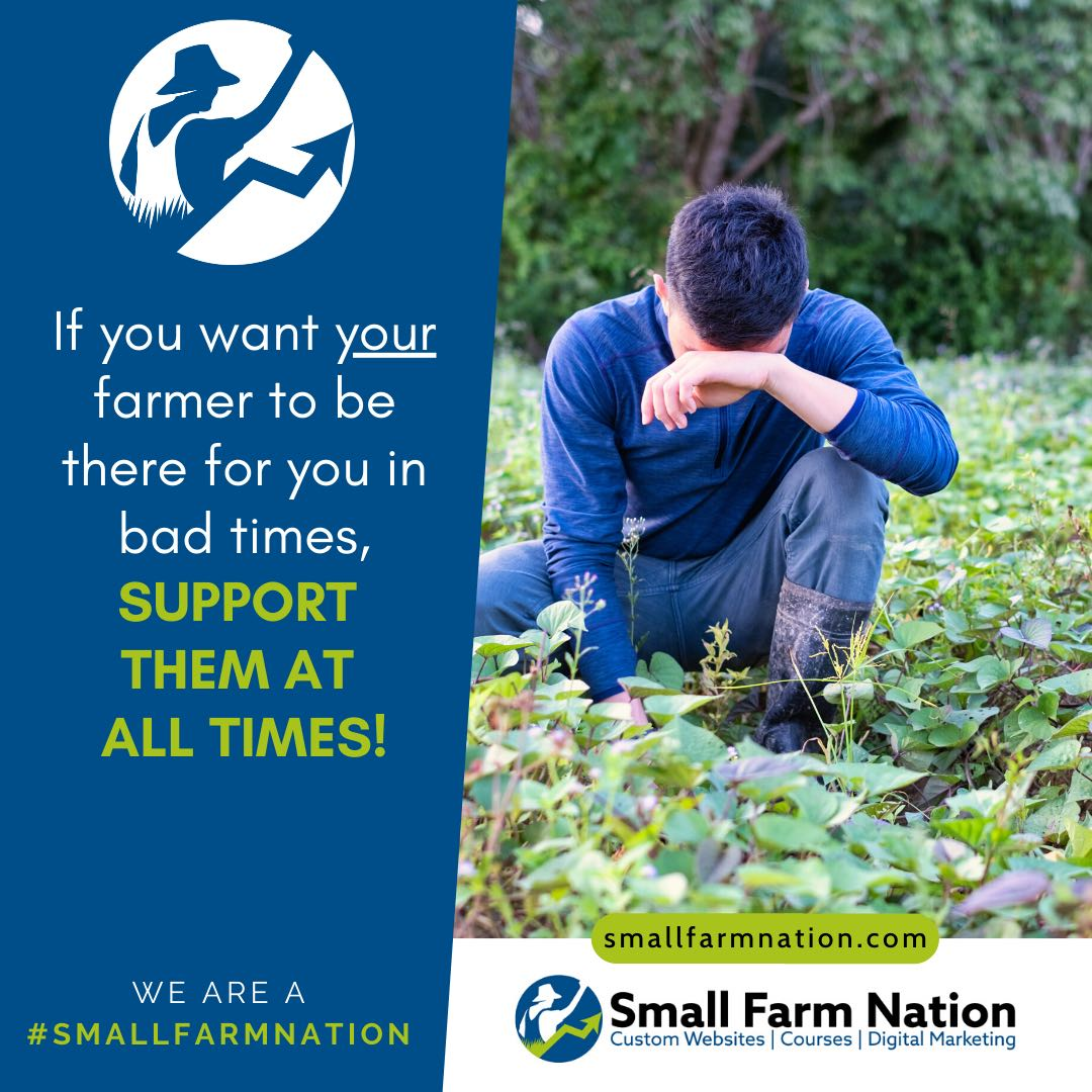 #We're a Small Farm Nation- Support your farmer in good and bad times